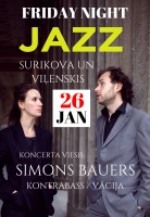 FRIDAY NIGHT JAZZ Surikova un Viļenskis attēls